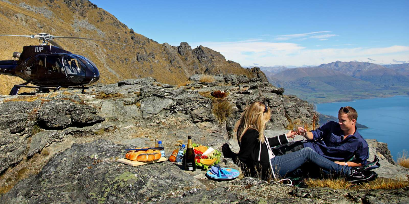 Picnic on a Peak with Over The Top Helicopters