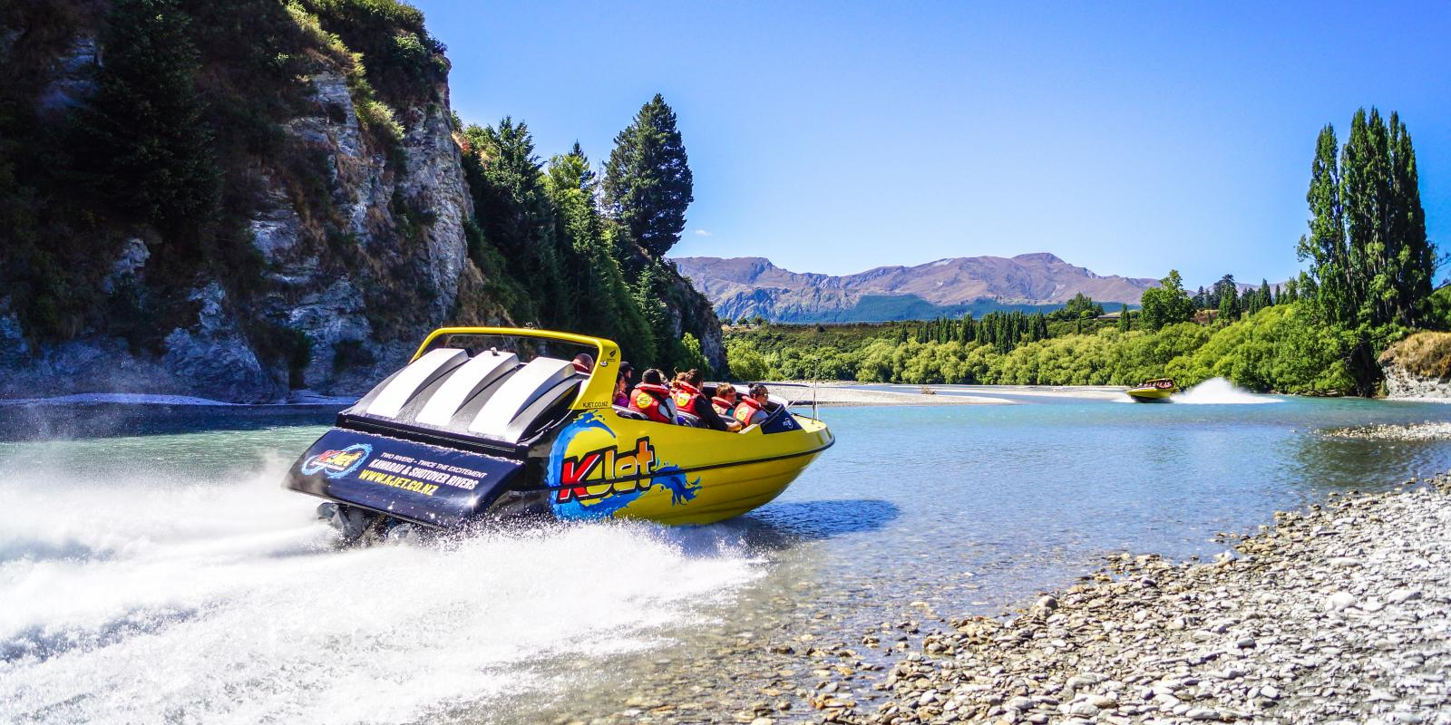 KJet jet boating on the Shotover River