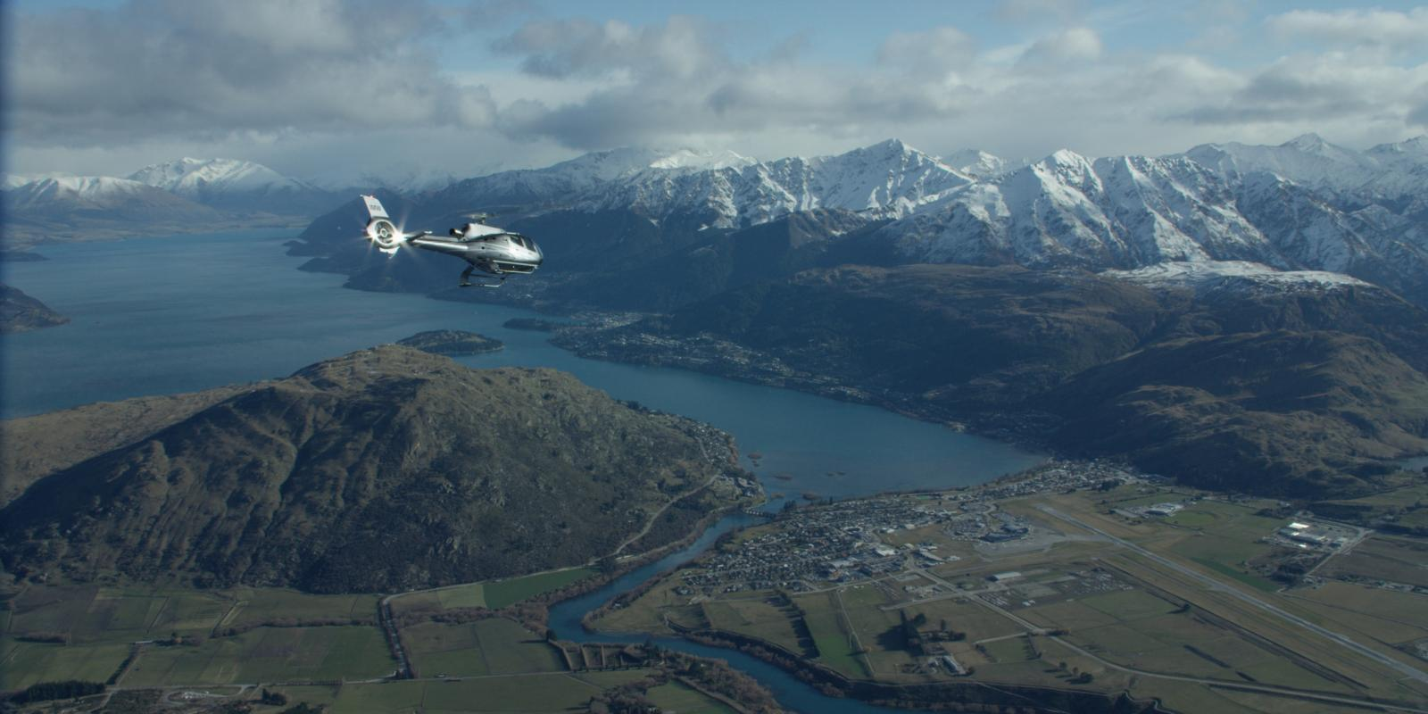 Scenic helicopter flight over Queenstown