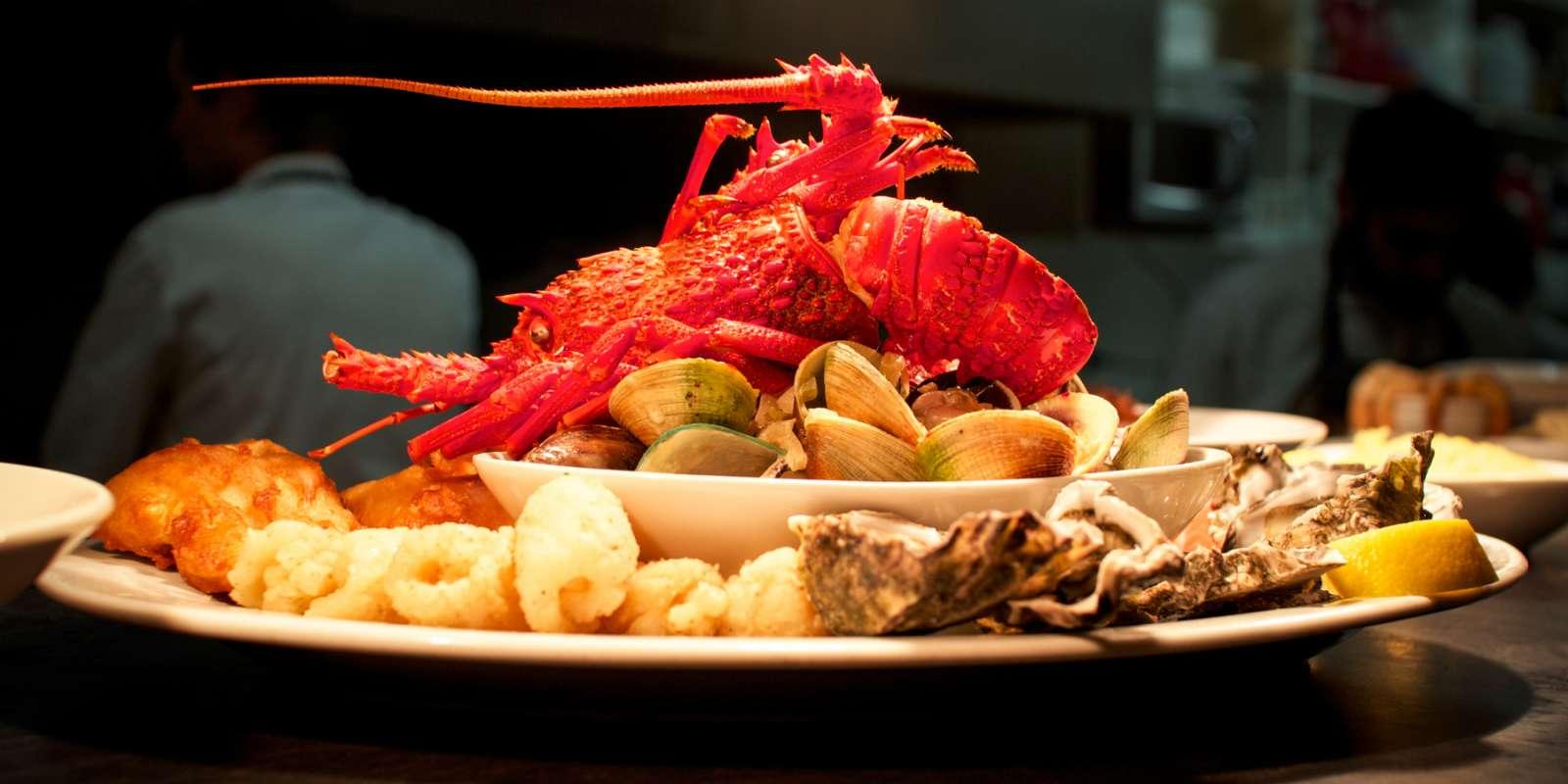 Fresh crayfish at Finz Seafood & Grill