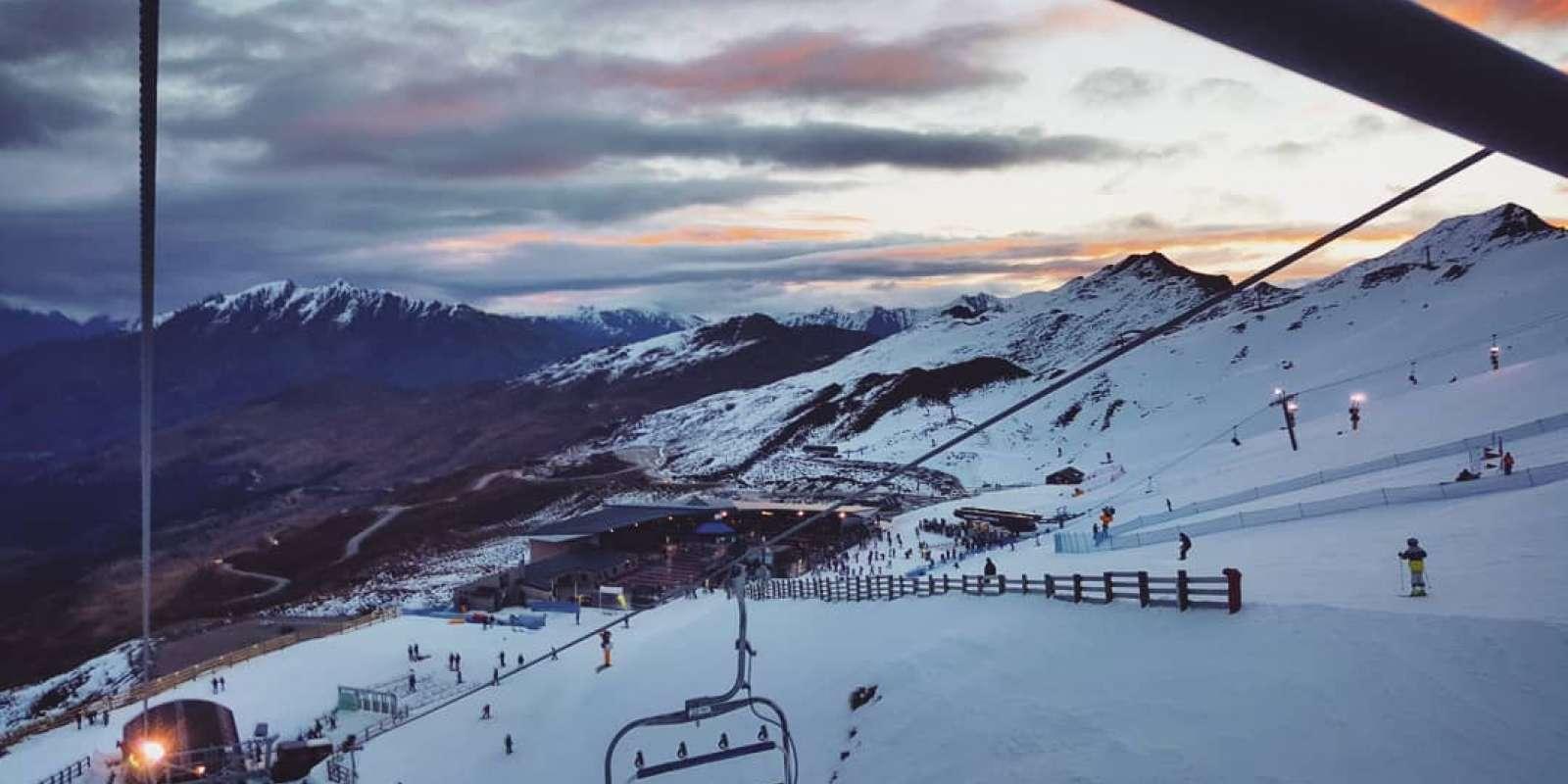 Night Skiing at Coronet Peak