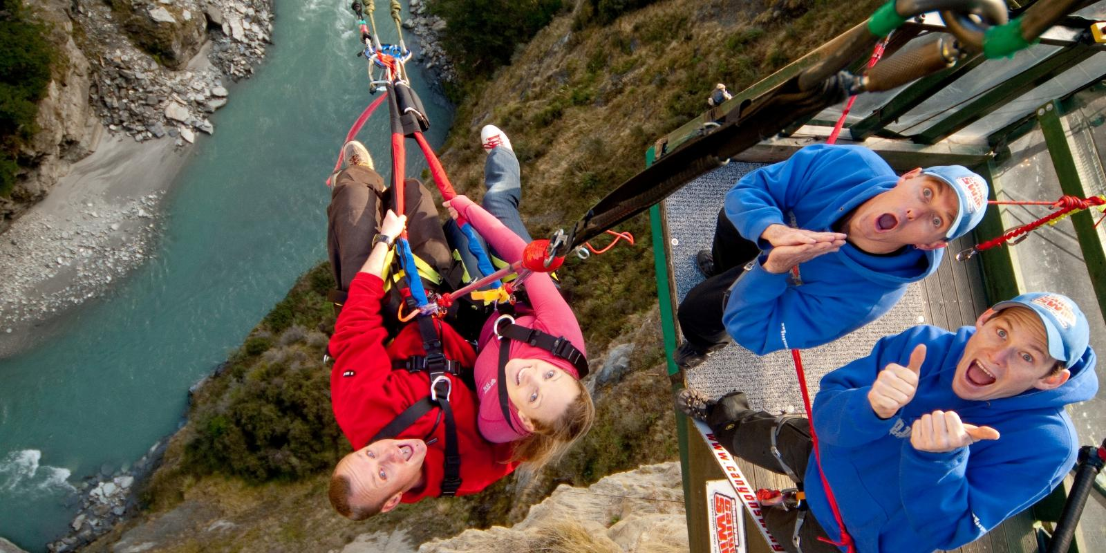 Shotover Canyon Swing in action