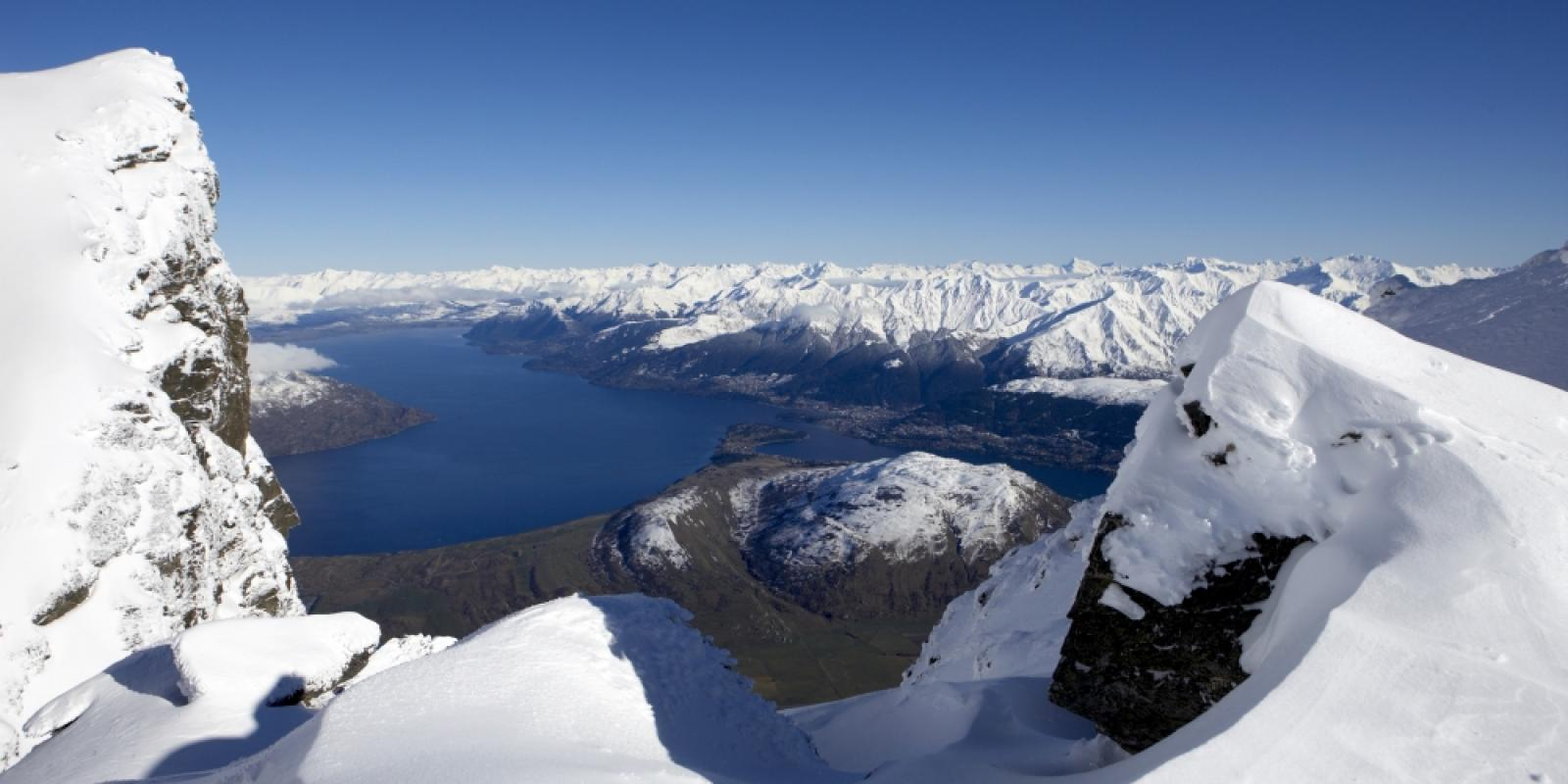 Views of Queenstown from The Remarkables Ski Area