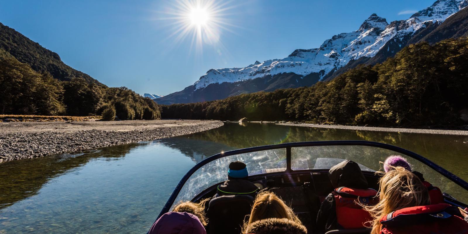 Dart River jet boating