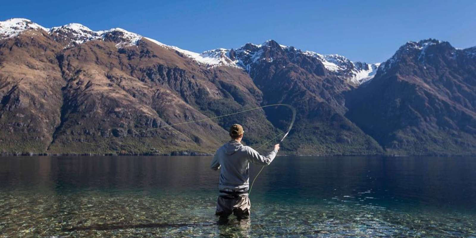 fishing in lake wakatipu queenstown new zealand