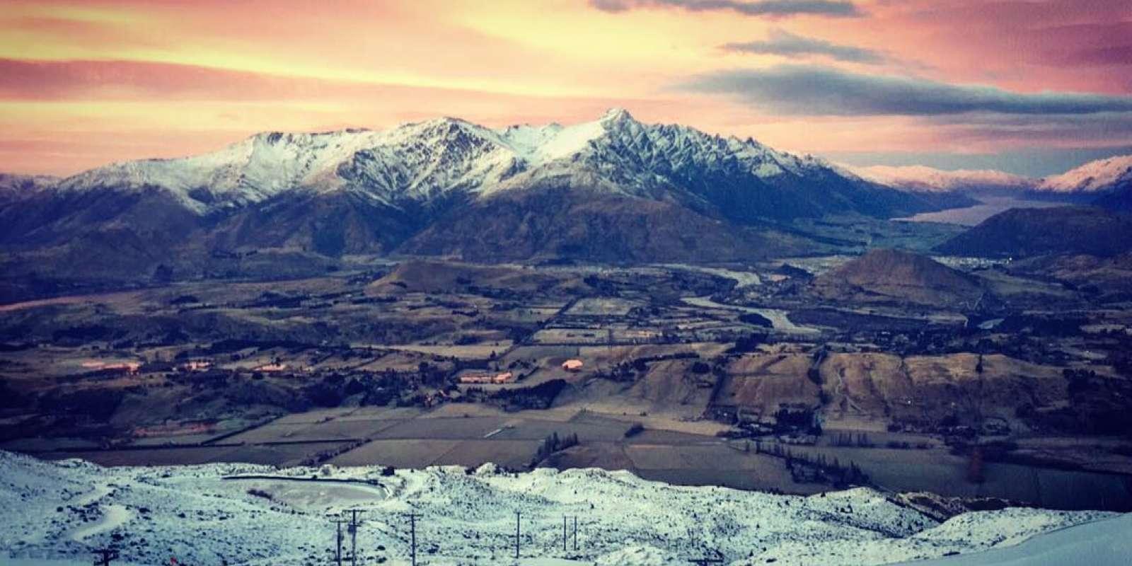 Sunset from Coronet Peak