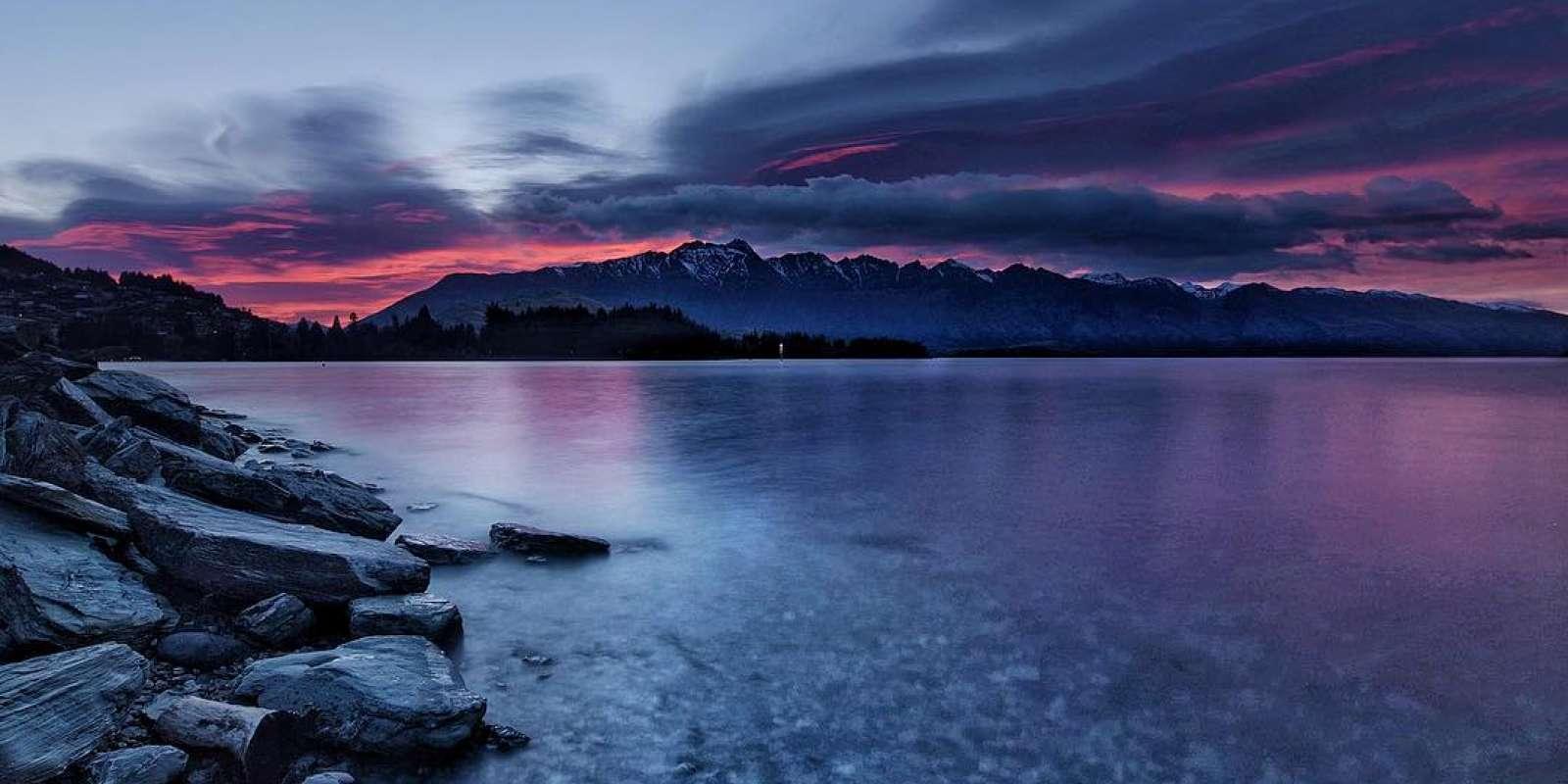 Lake Esplanade sunset