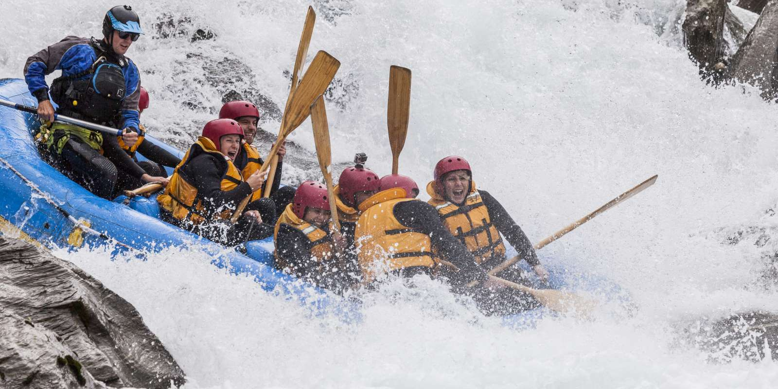 White water rafting on the Kawarau River