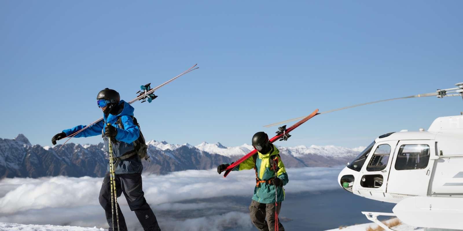 Heli-skiing in Queenstown