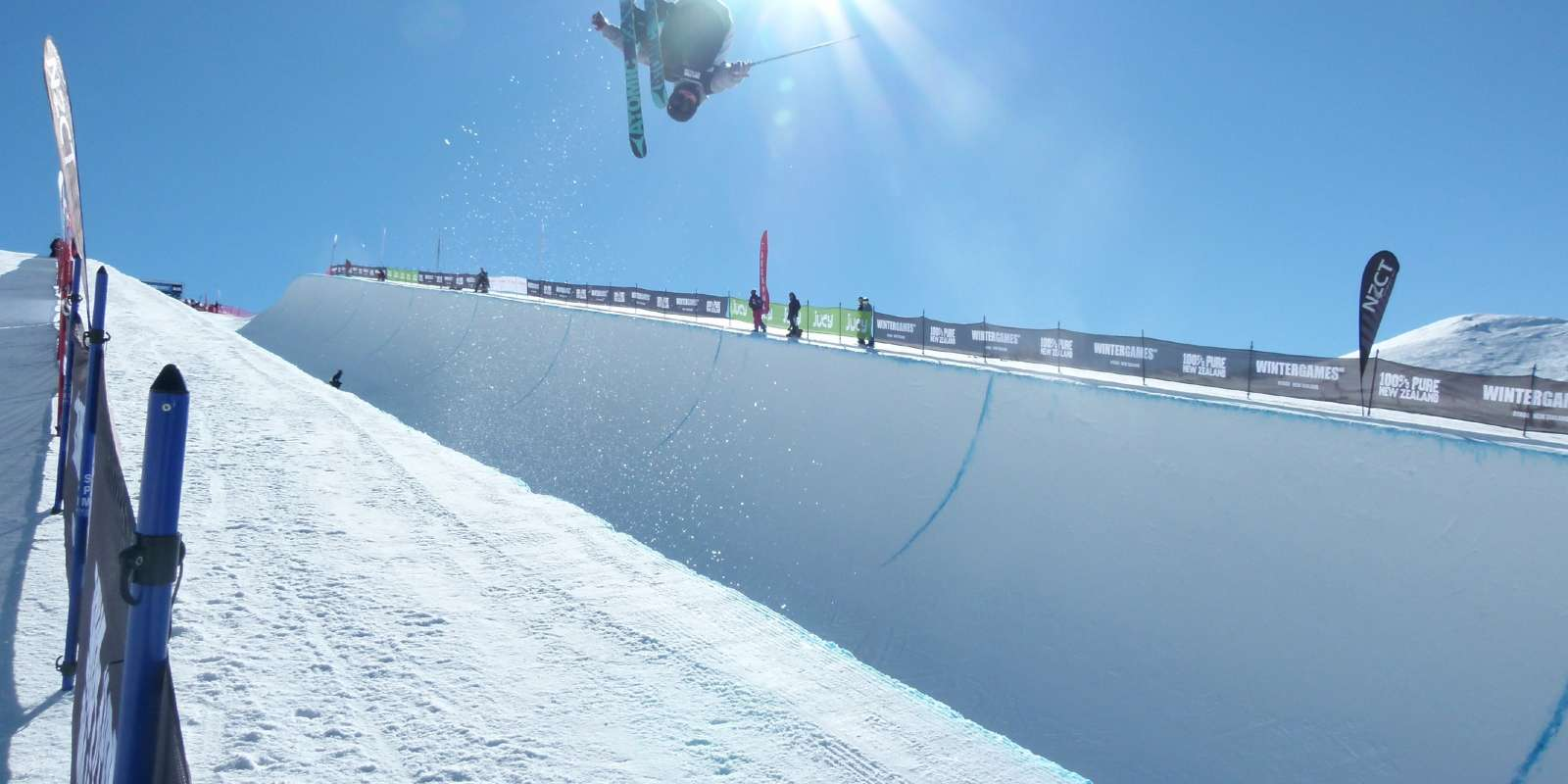 Competitor at the Winter Games at Cardrona