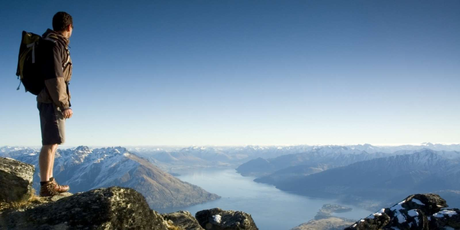 Hiking above Queenstown from Ben Lomond