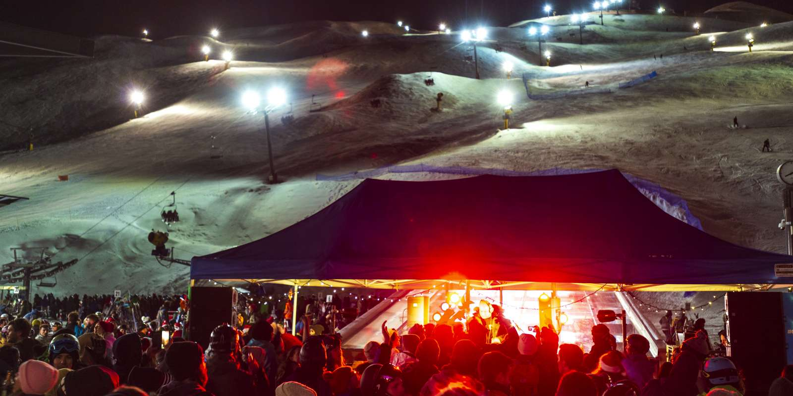 Night Ski parties at Coronet Peak