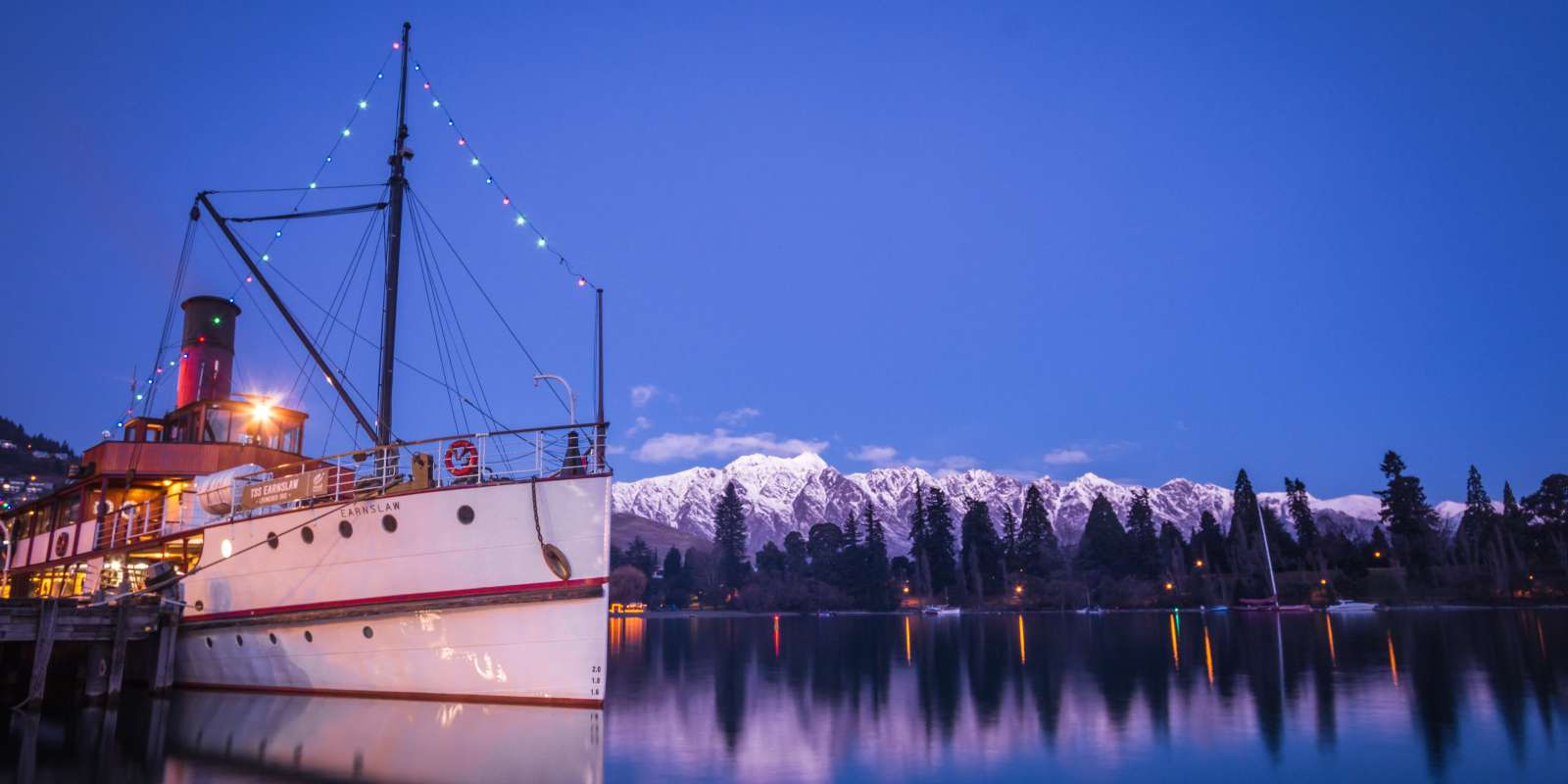 TSS Earnslaw at Dusk