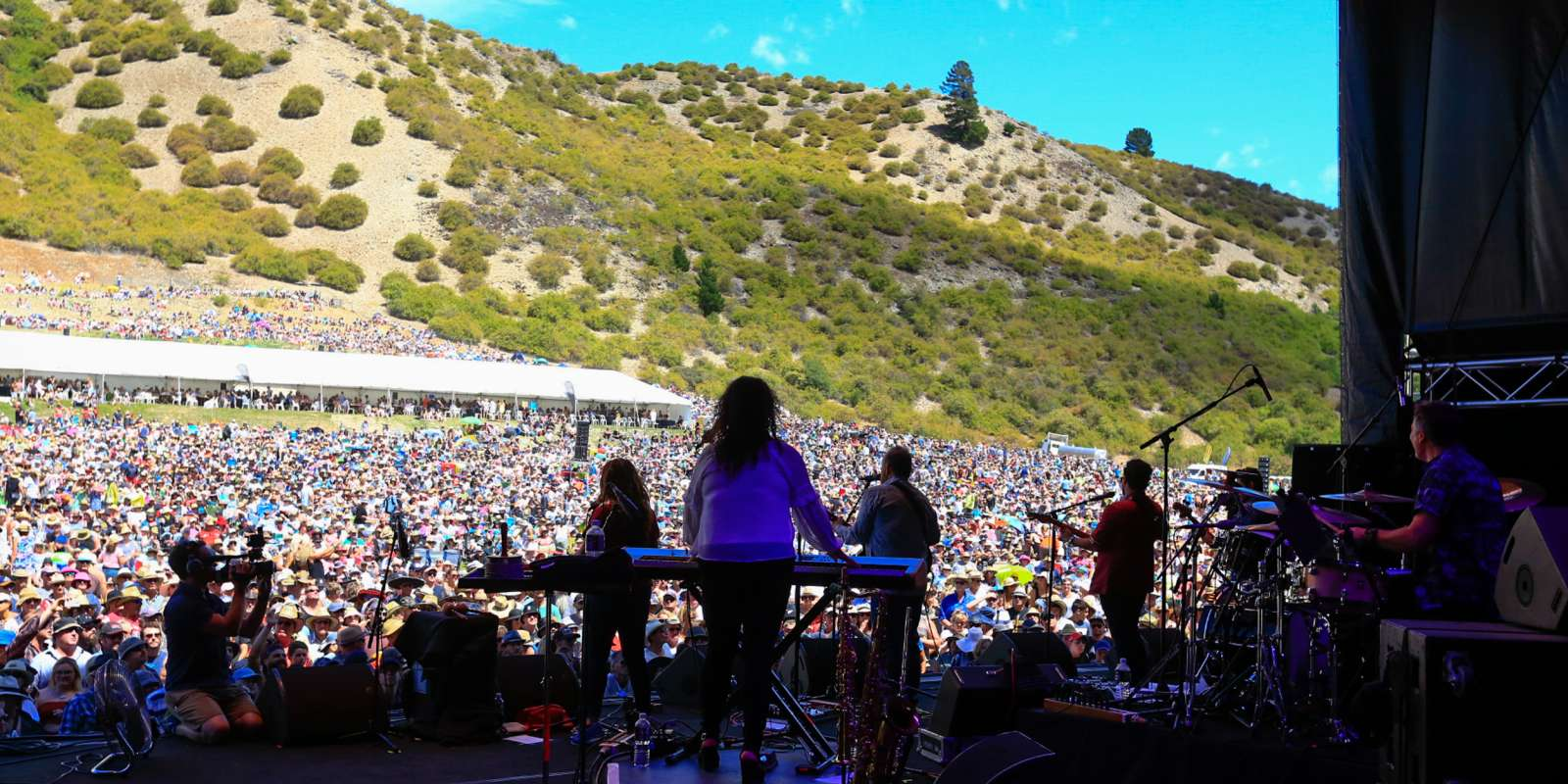 Gibbston Valley Winery Summer Concert stage
