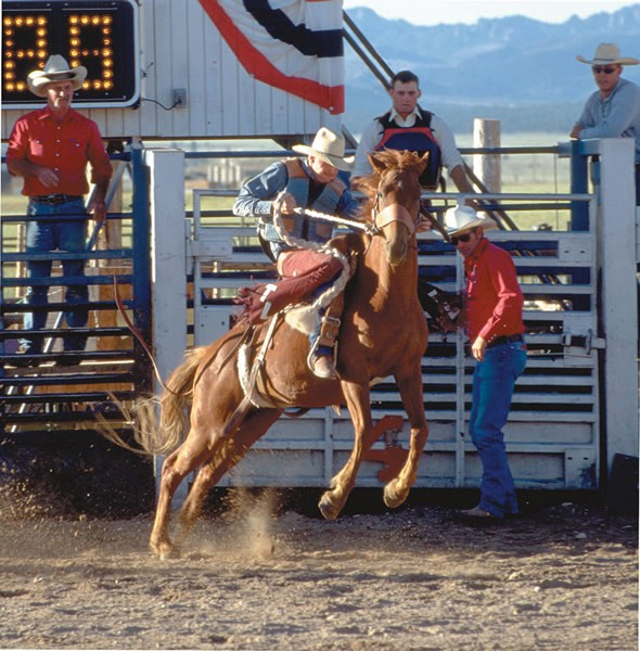 A rodeo in the Bryce Canyon area.