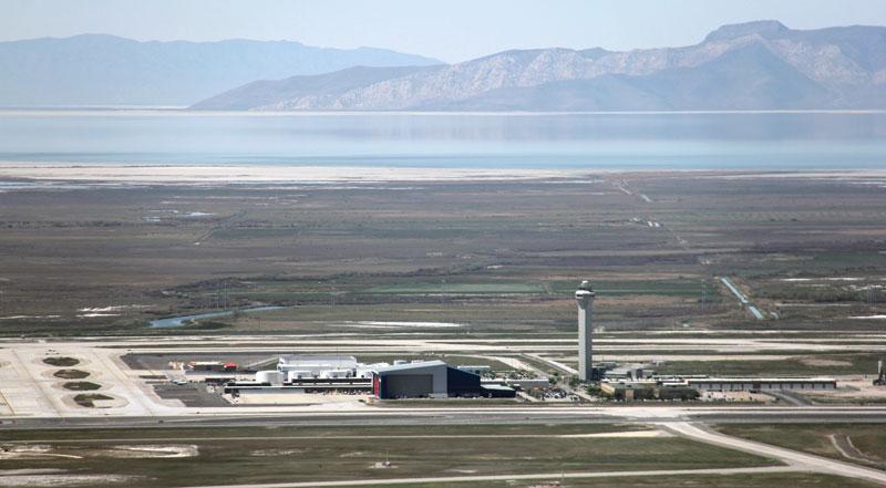 Salt Lake City International Airport - Next to Great Salt Lake