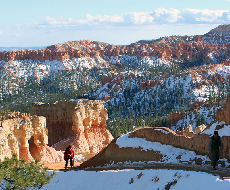 Hiking Trails are usually quite accessible even in winter months.