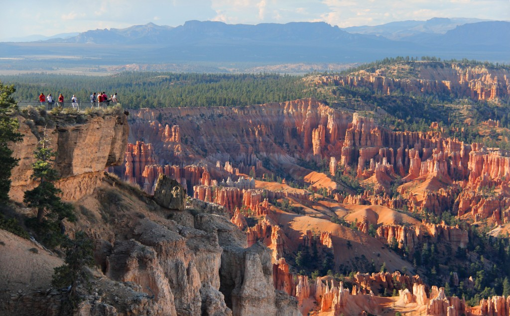 Taking in the red-rock landscape at Bryce Canyon National Park