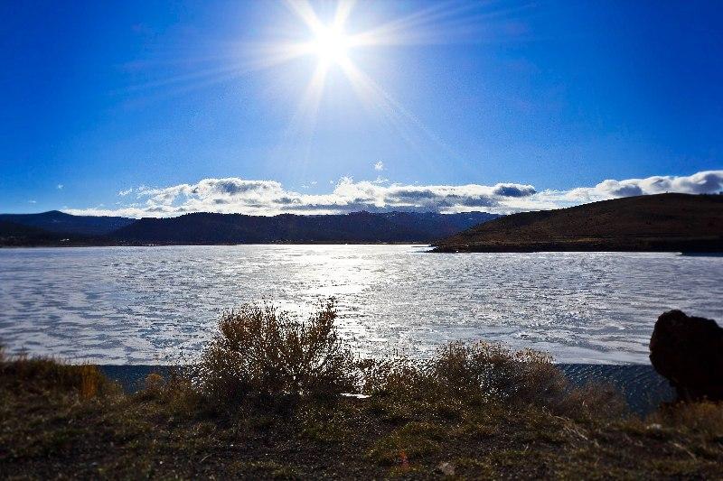 Panguitch Lake ice