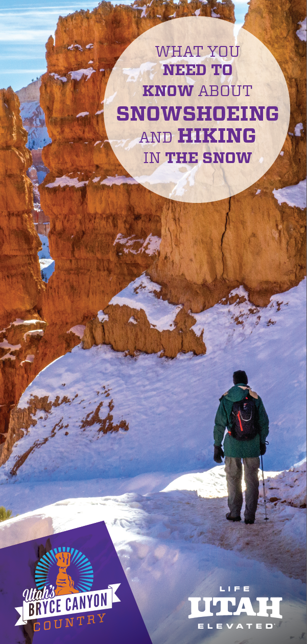 Tips and tricks for winter hiking and snowshoeing in Bryce Canyon National Park and Bryce Canyon Country.