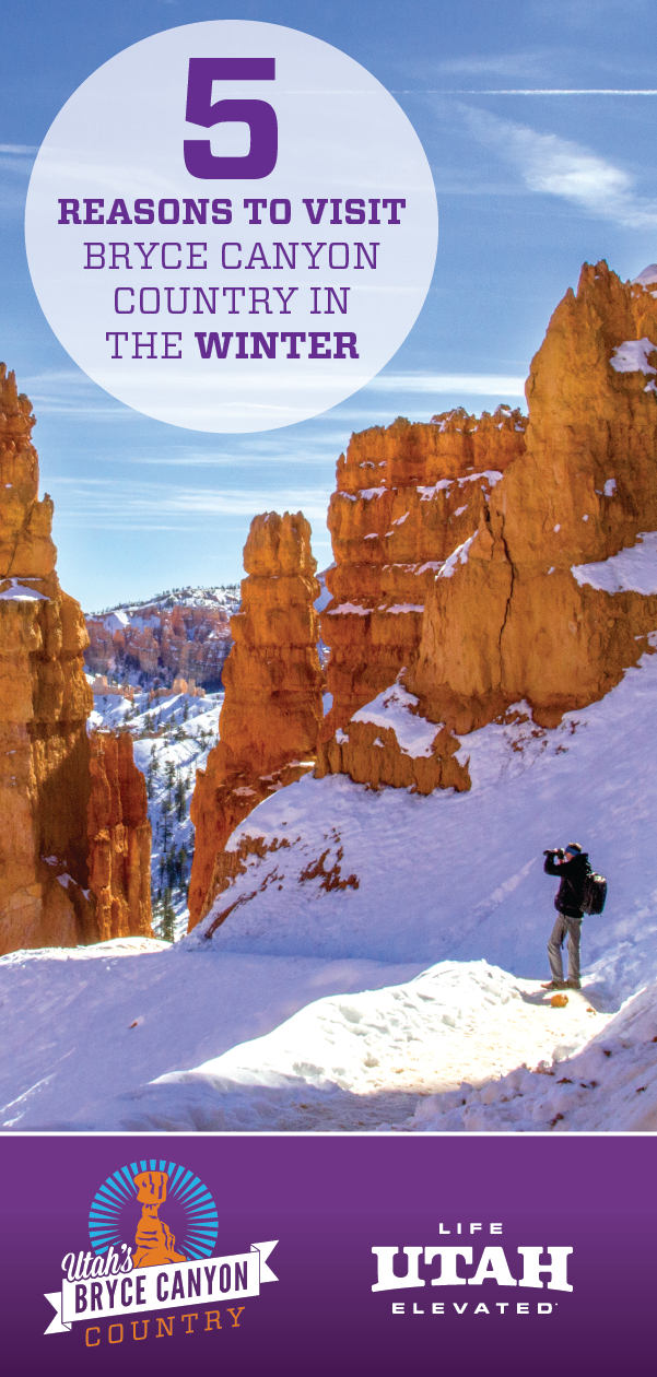 There are many reason to travel to Bryce Canyon Country in the winter, here are five.