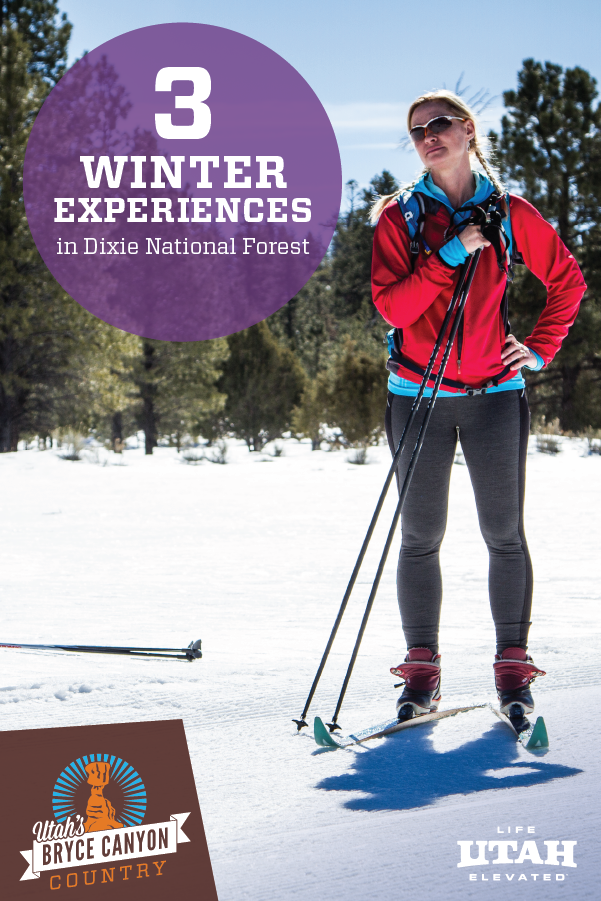 Enjoy snowmobiling, cross-country skiing and ice fishing in Dixie National Forest, Utah this winter.