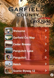 Bryce Canyon region ipod and iphone application