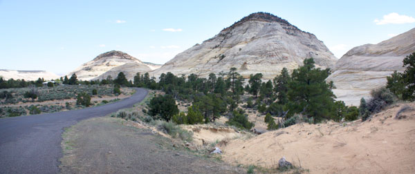 An upper section of the Burr Trail