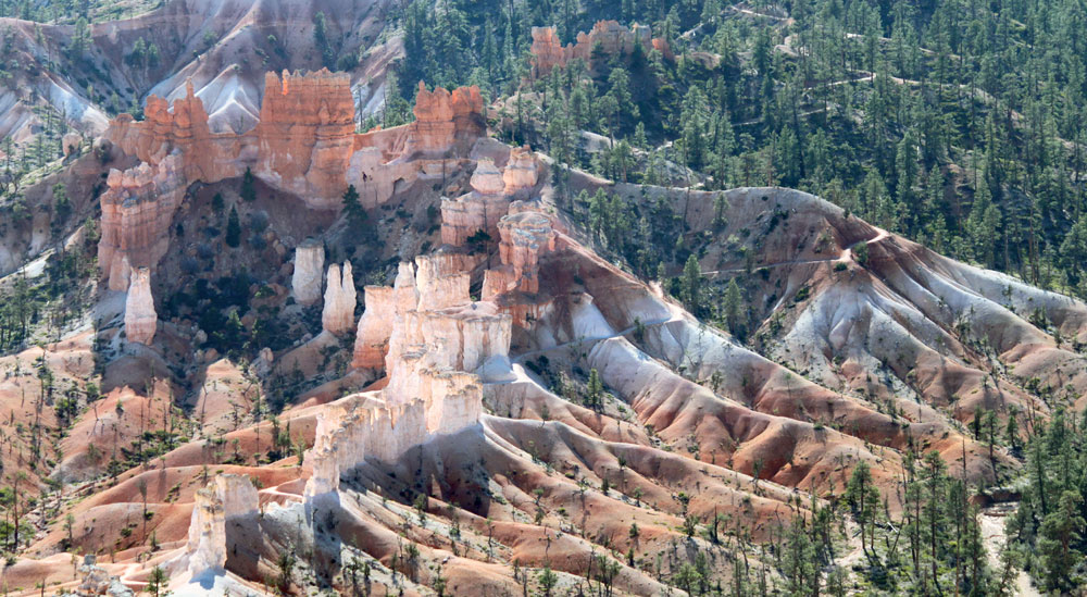 View of norther end of Bryce Canyon National park