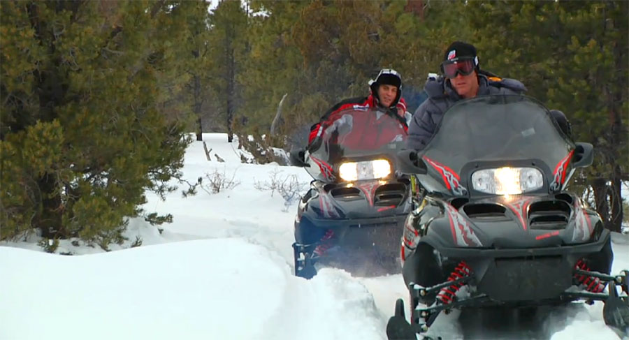 Snowmobiling in Utah's Bryce Canyon Country