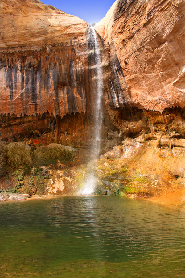 The upper falls at Calf Creek