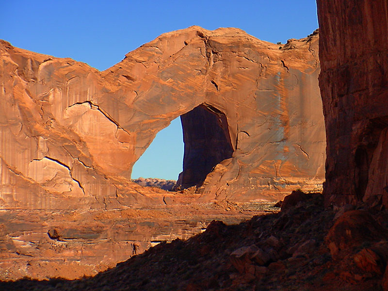 An arch formation in the Grand Staircase Escalante National Monument.