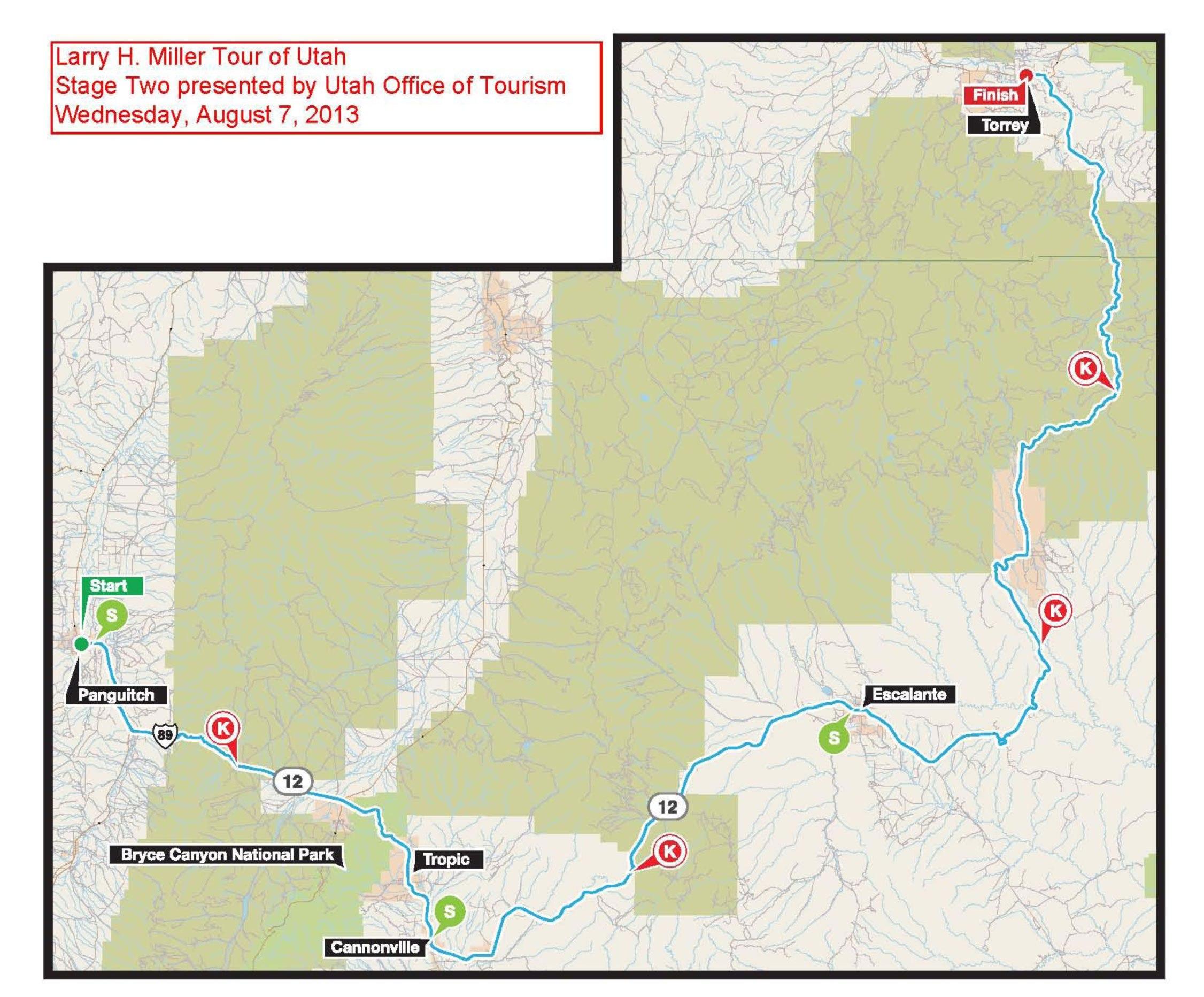 Tour of Utah Map