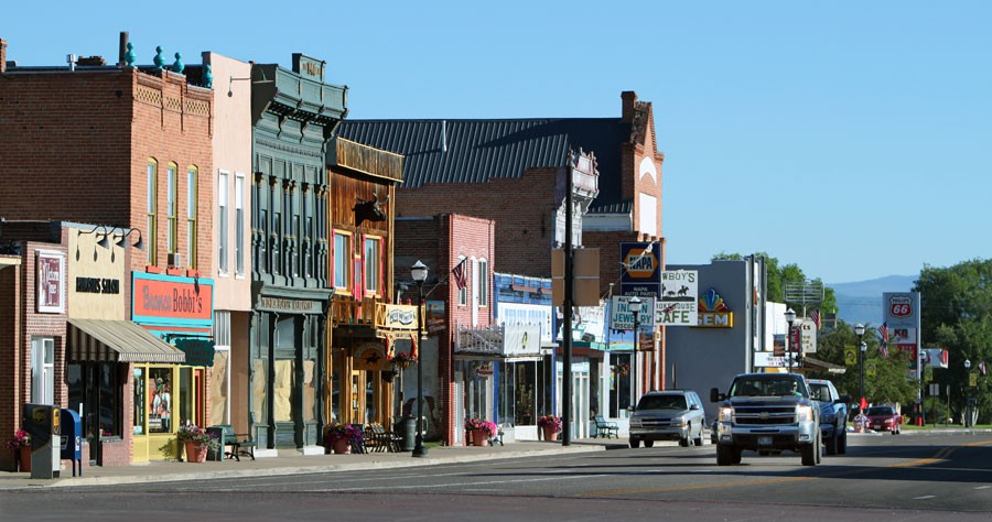 The historic buildings of downtown Panguitch, Utah