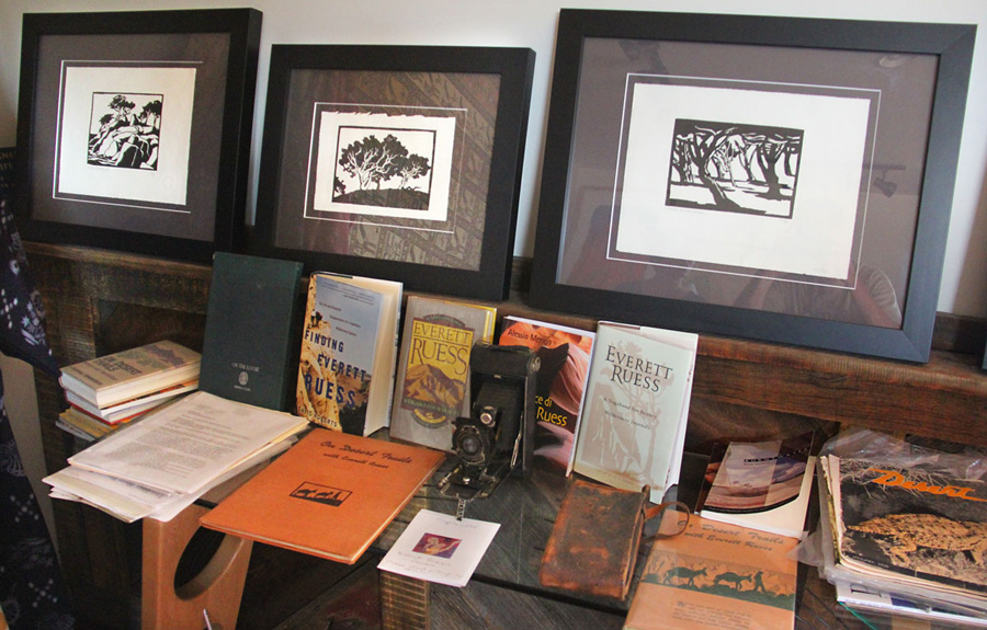 A collection of Everett Reuss art and artifacts.  - Escalante, Utah.
