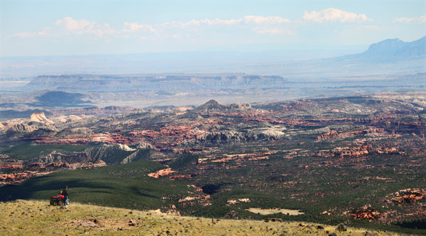 Looking down on the Capitol Reef National Park region.