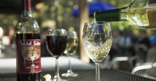 Wine tasting at La Belle Amie Vineyard in North Myrtle Beach.