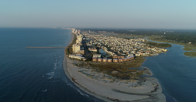 Aerial view of North Myrtle Beach.