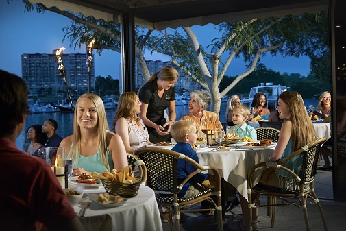 Dine beside the water in North Myrtle Beach.