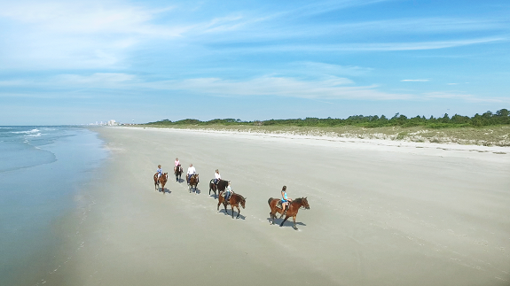 Horseback riding at Inlet Point Plantation on Waites Island