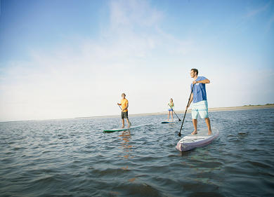 Paddle on the water in North Myrtle Beach
