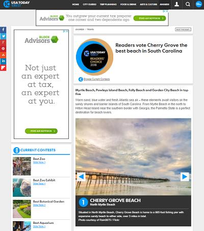 Cherry Grove named best beach in South Carolina