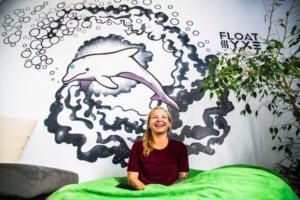 Gina at Float Now's Saskatoon location