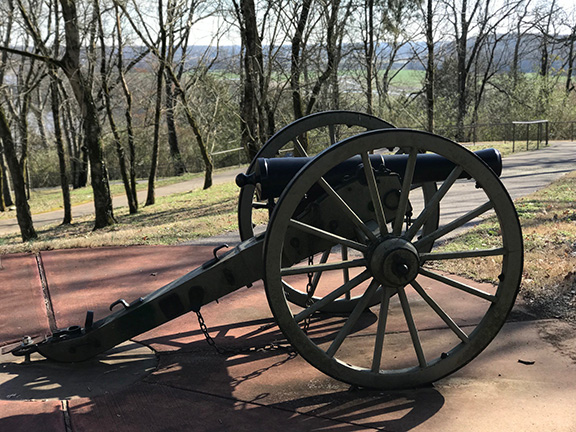Civil War Cannon at Fort Defiance