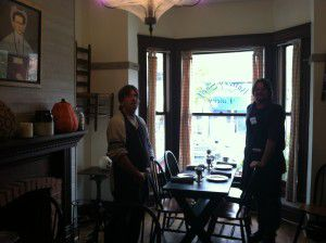 Our servers!  Check out the rustic decor!