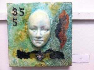 Encaustic work- Layers of beeswax--Isn't this absolutely beautiful!  And only $195!