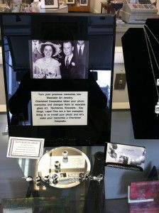 Necklaces with emblazened photos....beautiful!