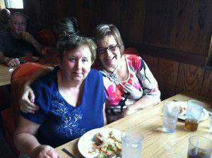 My mom and cousin enjoying her birthday!
