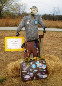(Scarecrow from past Trail of Scarecrows at Prophetstown State Park)