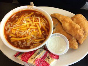 Chili with Chicken Tenders